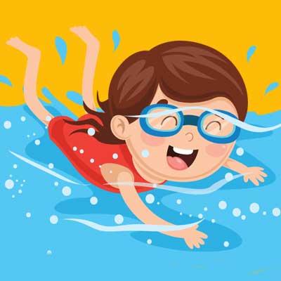 summer camp swimmer