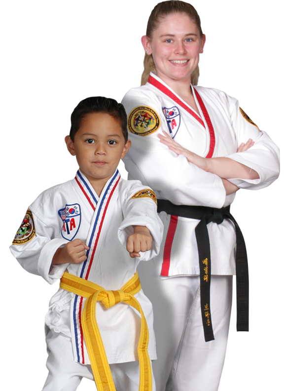 two martial arts students